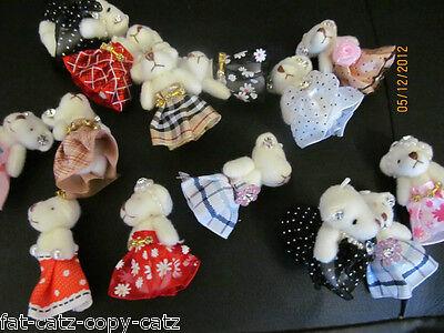 1 X Tiny Doll's House Di Giunti Sferici Teddy Bear Mobile Charm Jewels E Diamonte 4 Cm Tall- Forma Elegante