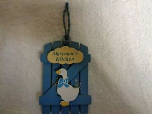 Maryanne-039-s-Kitchen-Blue-Wood-amp-White-Goose-RUSS-Refrigerator-Magnets