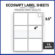 90 4 X 3 13 Laserink Address Shipping Self Adhesive Labels 6 Per Sheet