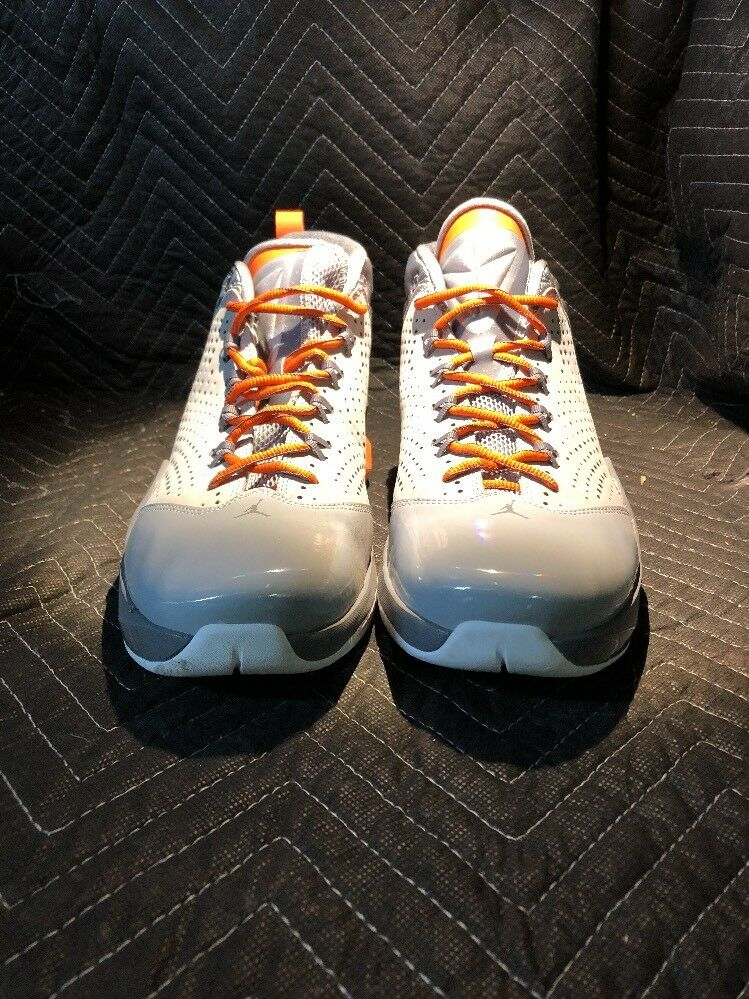 ️MEN'S NIKE AIR JORDAN FLIGHT TIME GREY WHITE orange NEW Size 12.5