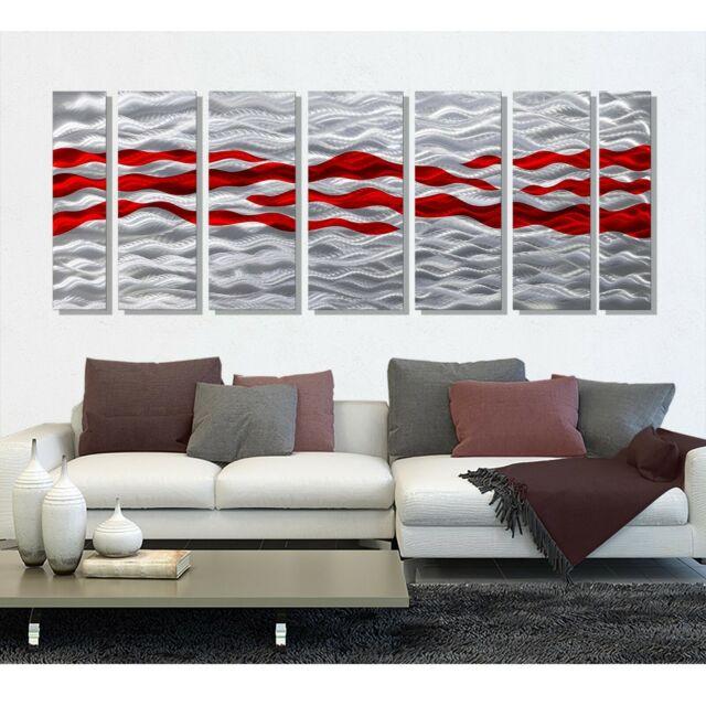 Statements2000 3D Metal Wall Art Panels Modern Blue Silver Decor by Jon Allen