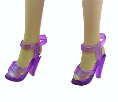 1//6 Barbie Doll Purple High Heel Ankle Strap Shoes