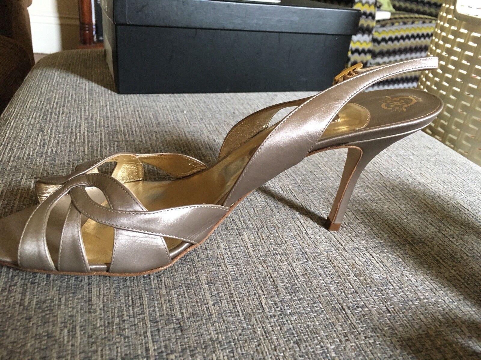 Gina Sling Back Bronze High Heels Uk 8/ US US 8/ 8.5/ EUR 41 2f110a