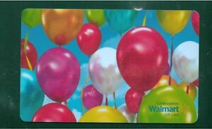 2x-Birthday-ballons-2015-GIFT-CARD-FROM-WALMART-BILINGUAL-NO-VALUE-new
