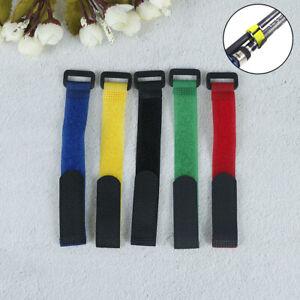5Pcs Fishing Tools Rod Tie Strap Belt Tackle Elastic Wrap Band Pole Holder DR