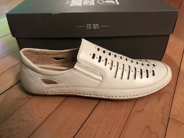 Stacy Adams White Naples Loafers - Size 9