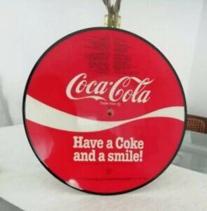PICTURE-DISC-COCA-COLA-HAVE-A-COKE-AND-SMILE-VINTAGE-1980-ORIGINALE-PERFETTO