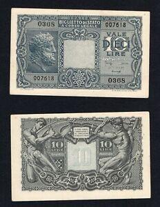 Schlussverkauf Italien / Italy - 10 Livre Jupiter 1944 Qfds / Unc- C-10 Gute WäRmeerhaltung