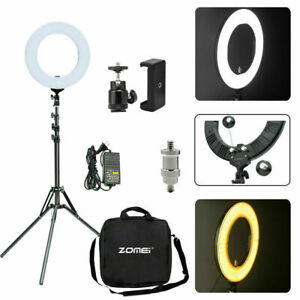 14-034-Ring-LED-Dimmable-Light-Photography-5500K-Adjustable-Adapter-Lighting-USA