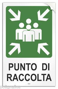 Cartello-PVC-adesivo-034-Punto-di-Raccolta-034