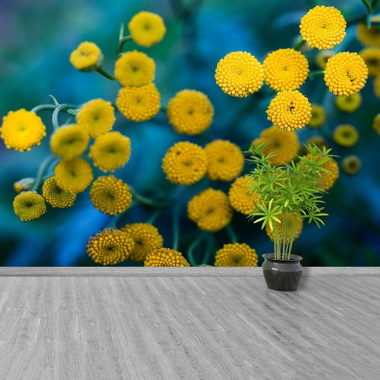 Fototapete Selbstklebend Einfach ablösbar Mehrfach klebbar Gelbe Blumen