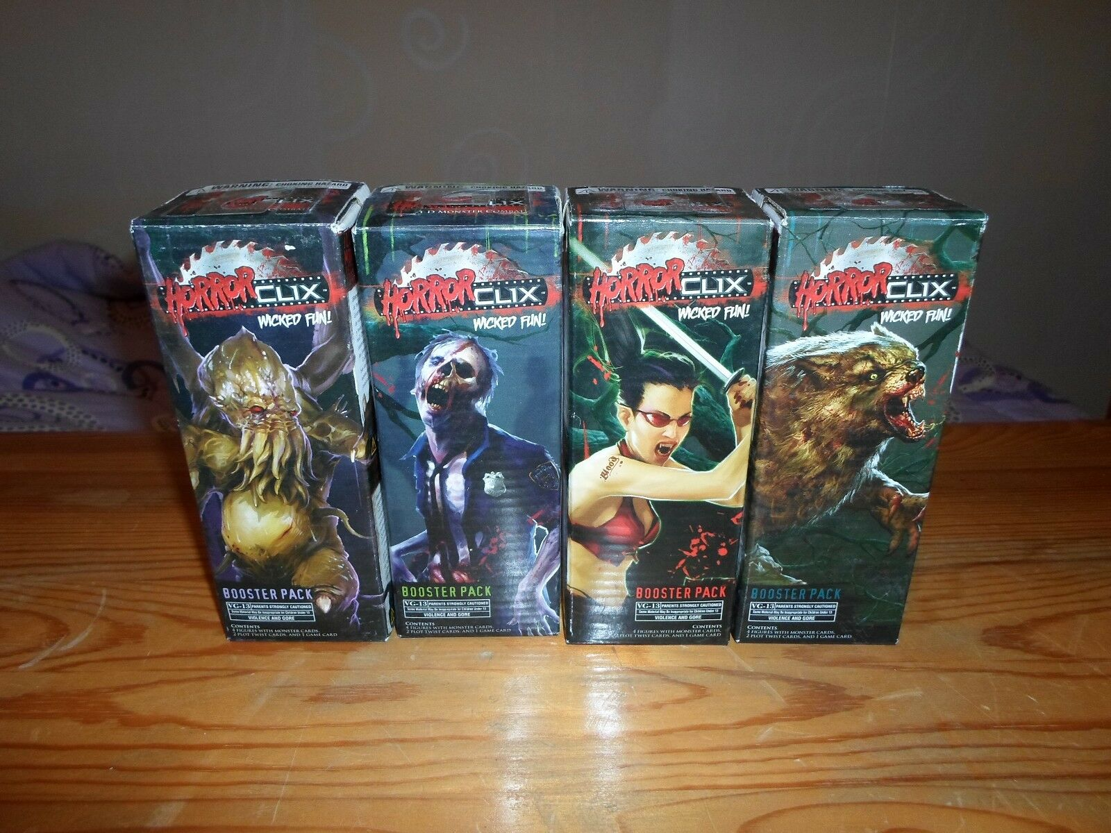 4 x horrorclix raketen basis - satz