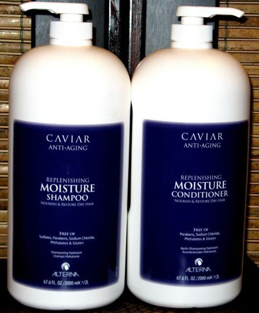 Alterna Caviar Replenishing Moisture Shampoo & Conditioner 67.6 Oz Duo
