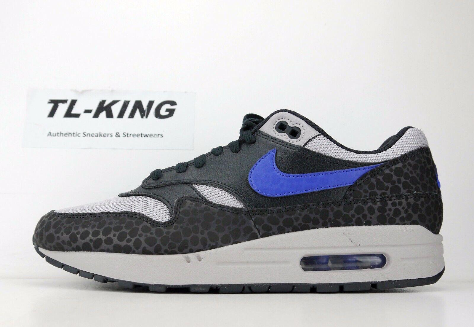 Nike Air max 1 SE Reflective 3M Safari Off black Hyper bluee BQ6521 001 AC