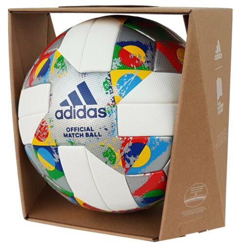 adidas UEFA Nations League OMB Matchball Fußball weiß/silber [CW5295]