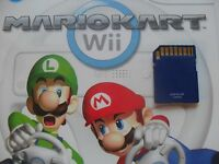 Mario Kart Nintendo Wii Sd Memory Card All Tracks/cars Unlocked With Mirror Mode