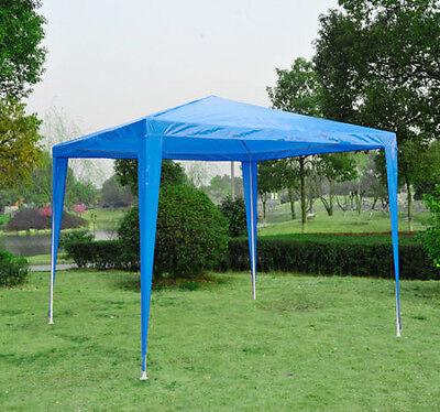 2.7x2.7M Garden Heavy Duty Gazebo Marquee Party Tent Wedding Canopy Outdoor Blue