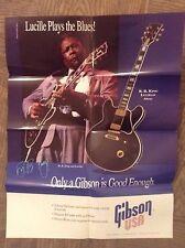Gibson B.B. King Lucille dealer poster