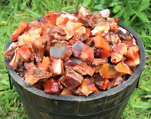 1-2-lb-Bulk-Lot-Natural-Rough-Carnelian-Raw-Stone-Crystal-MADAGASCAR-8-oz