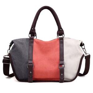 Fashion-women-retro-european-style-canvas-casual-panelled-shopper-tote-handbag