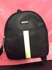 "NWT Tommy Hilfiger BLACK COLOR Mini backpack 12""x 10"" Bag Printed Striped"
