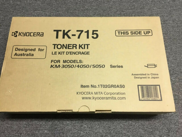 Genuine Kyocera TK-715 BLACK Toner Cartridge for KM3050/KM4050/KM5050/420i/520i