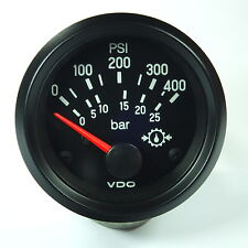 VDO OELDRUCK INSTRUMENT 400 psi  / 25 bar GAUGE 24V 52mm Cockpit international