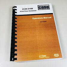 Case Ih 2144 2166 Axial Flow Combine Operators Owners Manual International