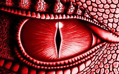 Enmarcado impresión ojo gigante de un dragón verde Imagen Arte Cartel animal Lagarto