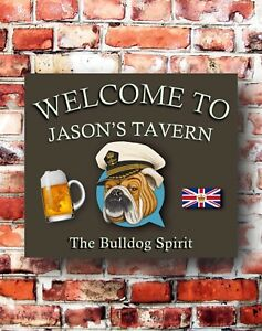 BULLDOG-PERSONALISED-BAR-SIGN-BEER-SHED-HOME-BAR-GREAT-FATHERS-DAY-GIFT