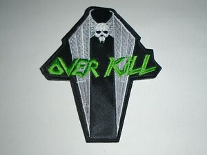 Embroidered Small Patch NEW OVERKILL Band Logo