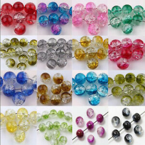 Wholesale-20-50Pcs-Mixed-Glass-Mixed-Round-Crackle-Crystal-Charms-Beads-Jewelry