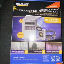 New Listingnew Reliance Controls Transfer Switch 3006hdk 8000 Watts Generator 6 Circuit 30a