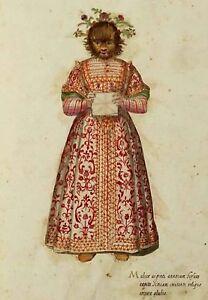 Repro-Postcard-Werewolf-Girl-Antonietta-Gonzales-Red-Tapestry-Dress-1590s