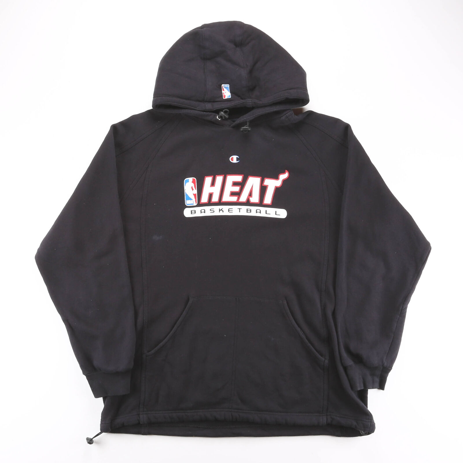 CHAMPION Miami Heat Black 00s Pullover Hoodie Mens L