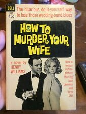 How To Murder Your Wife By Henry Williams Movie Tie In Jack Lemmon Virna Lisi