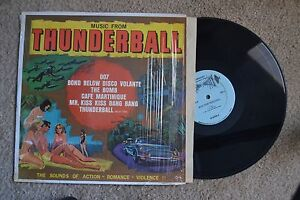 Thunderball-Movie-Soundtrack-James-Bond-007-shrink-rare-Record-LP-NM