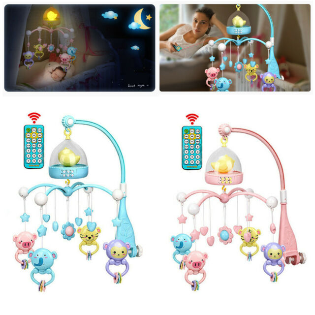 Baby Musical Mobile Projection Nursery Lights Bed Crib Cot  Nusery Lullaby Toys