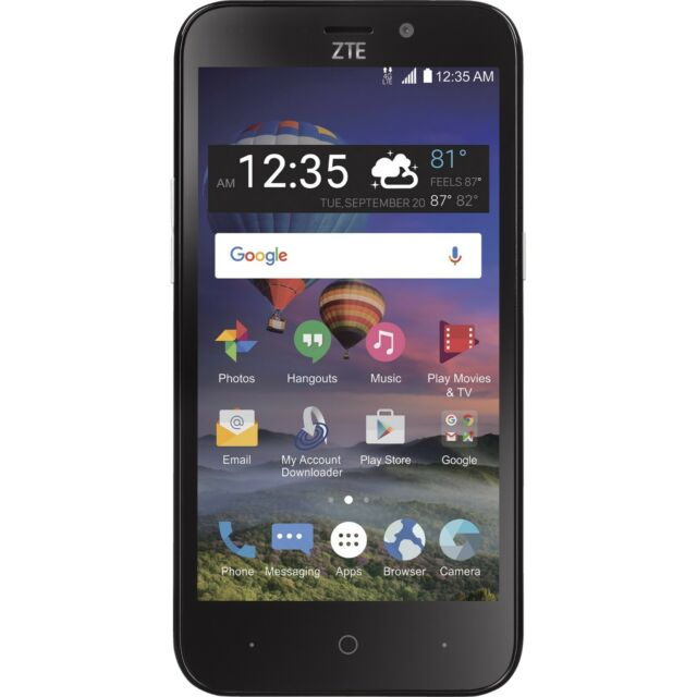 Simple Mobile ZTE ZFive 2 4G Android Prepaid Smartphone - Certified Refurbished