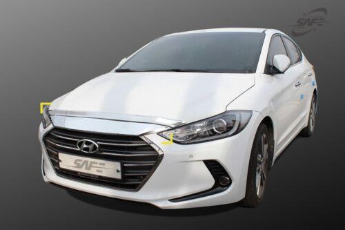 Bonnet Hood Guard Chrome Garnish Deflector 2P K-870 for Hyundai Elantra 2017~18