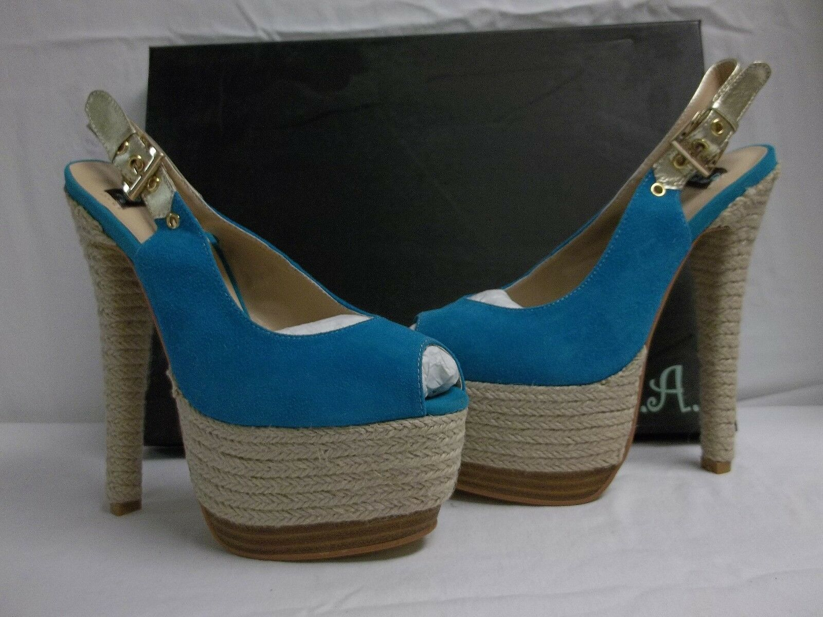 N.Y.L.A. Größe 7.5 M Pearlia Blau Suede Slingbacks Heels New New New damen schuhe d83d19