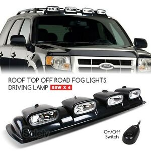 4x 8 off road 4x4 driving lamp spot light bar roof mount overhead image is loading 4x 8 034 off road 4x4 driving lamp mozeypictures Images