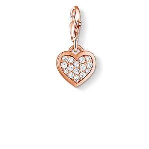 2fcab504e01f Image is loading Genuine-Thomas-Sabo-Rose-Gold-CZ-Pave-Heart-