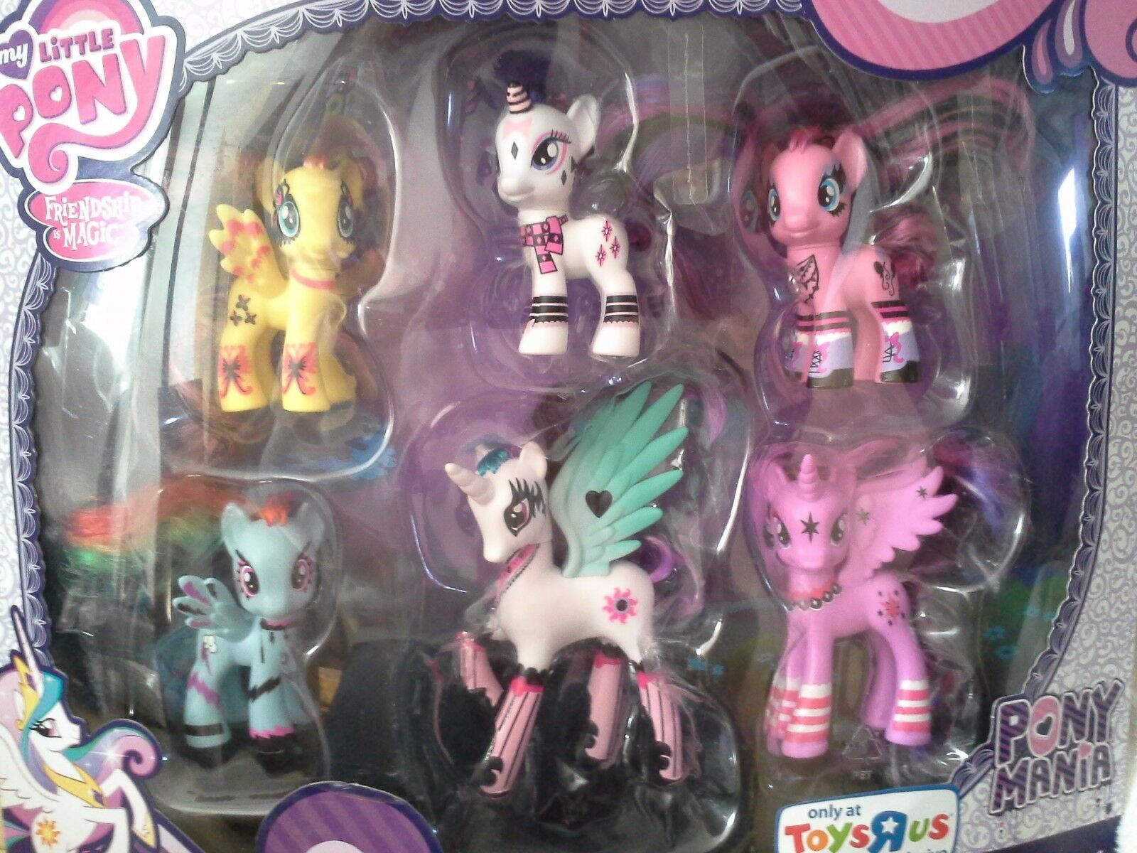 MY LITTLE PONY PONYMANIA COLLECTION, 6 PONIES NEW NRFB TRU EXCLUSIVE