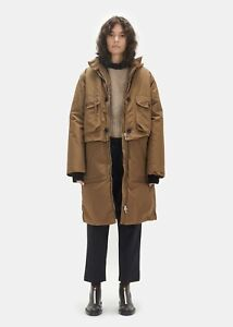 $2742 Marni NEW 2in1 Detachable Hooded Nylon Parka + Down Filled Puffer Coat 42