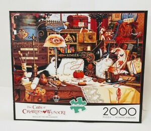 The Cats Of Charles Wysocki 2000 Piece MAGGIE THE MESSMAKER Buffalo Games Puzzle