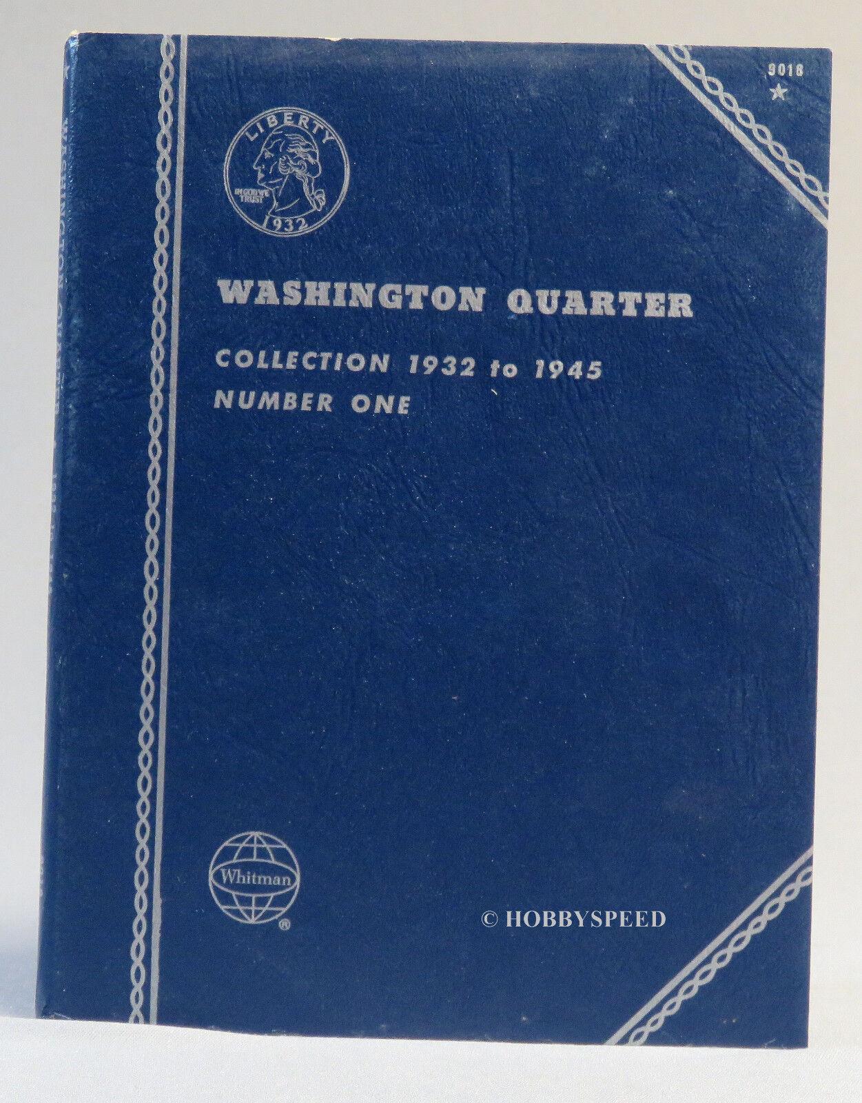 NEW WHITMAN WASHINGTON QUARTER 1932-1945 25C COIN ALBUM #9018 FROM SEALED PK 1