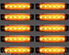 10x 24V LED Lateral Marcador Naranja Luces para Camión Volvo Man Scania Iveco