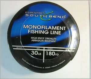 South bend sb m1430 monofilament fishing line 30 lb test for Fishing line test