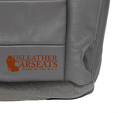 2002-2006 2007 Ford F250 F350 Lariat Driver Side Bottom Leather Seat Cover Gray